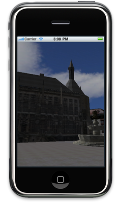 Virtual Aachen Project on the iPhone